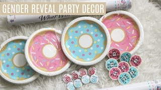 GENDER REVEAL PARTY DECOR HAUL | DONUT THEME