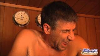 you must be naked in sauna