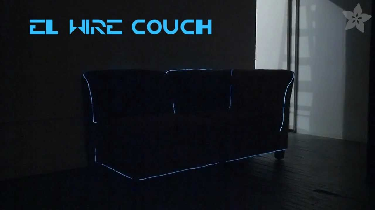 How-to make an EL wire couch! - YouTube