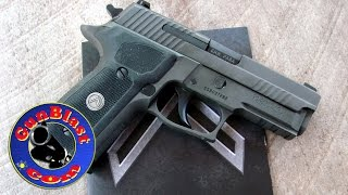 Shooting the NEW Legion Series P229 9mm Pistol from Sig-Sauer - Gunblast.com