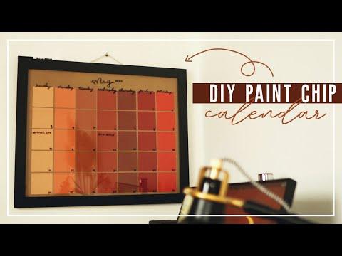 easy-diy-paint-chip-dry-erase-calendar!