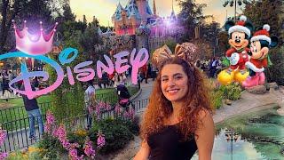 يوم كامل في Disneyland 🏰🎡 || عيد الكرسمس بأميركا 🎄🎅🏽