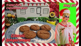 Gingersnap Cookie Recipe : Day 20 Trailer Park Christmas 2017