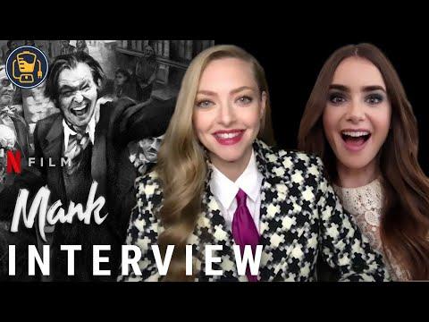 'Mank' Interviews with Amanda Seyfried, Lily Collins, Tom Pelphrey