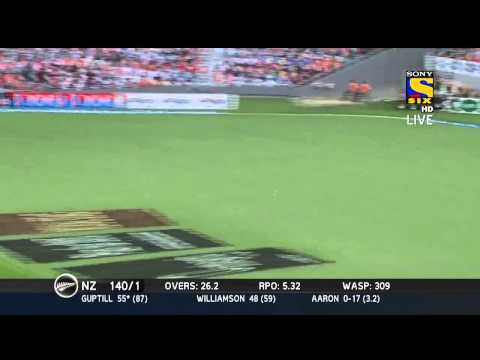 MARTIN GUPTILL SLAMS A CENTURY | NEW ZEALAND VS INDIA 3RD ODI | 25 JAN 2014