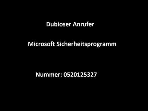Dubioser Anrufer - Callcenter Schwachsinn - Microsoft Sicherheitsprogramm - Cold Call -Western Union