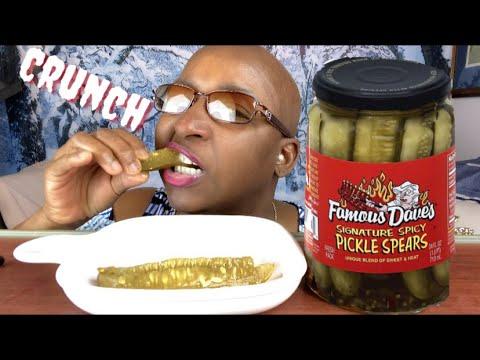 Pickle ASMR Eating Sounds / BIG Crunch