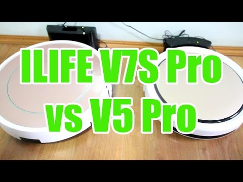 ILIFE V7S Pro vs V5 Pro Cleaning Test