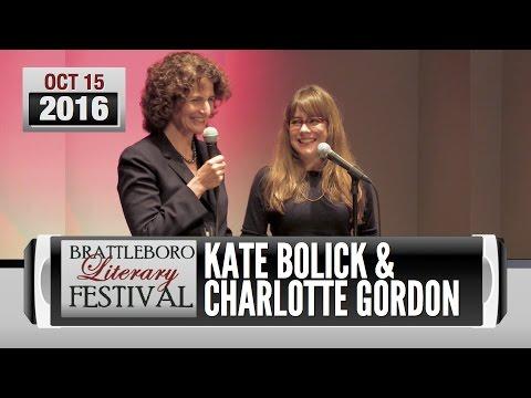 Brattleboro Literary Festival 2016: Kate Bolick, Charlotte Gordon