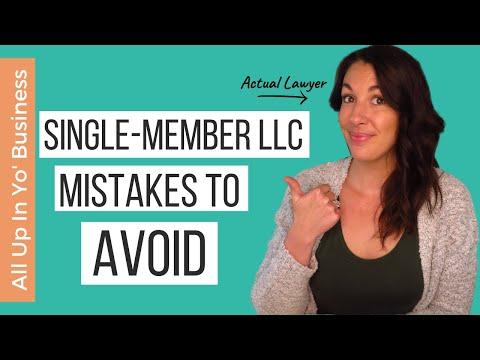Common Single Member LLC Mistakes to Avoid | How to Start an LLC