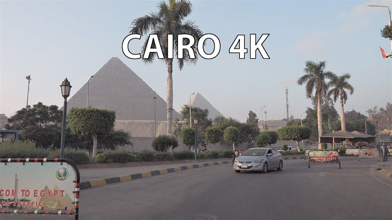 Cairo 4K - Pyramid Expressway Sunrise - Scenic Drive