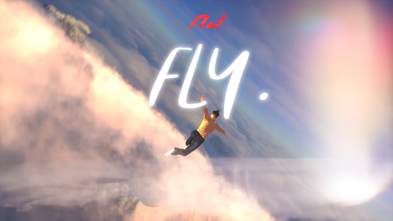 NJ - FLY (Lyric Visualizer)
