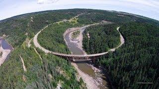 Kiskatinaw Curved Bridge - Kiskatinaw Provincial Park - Dji Phantom 2 Vision Plus