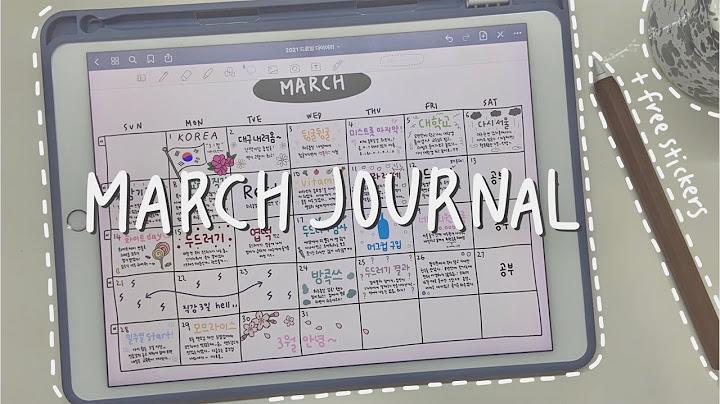 3월 아이패드 다이어리 꾸미기 + 스티커 공유 | 굿노트5 다이어리 | 아이패드 asmr | March diary on my ipad