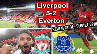 SEVEN Goal Thriller at Anfield! - Liverpool 5-2 Everton. All The Goals!, Matchday Vlog.