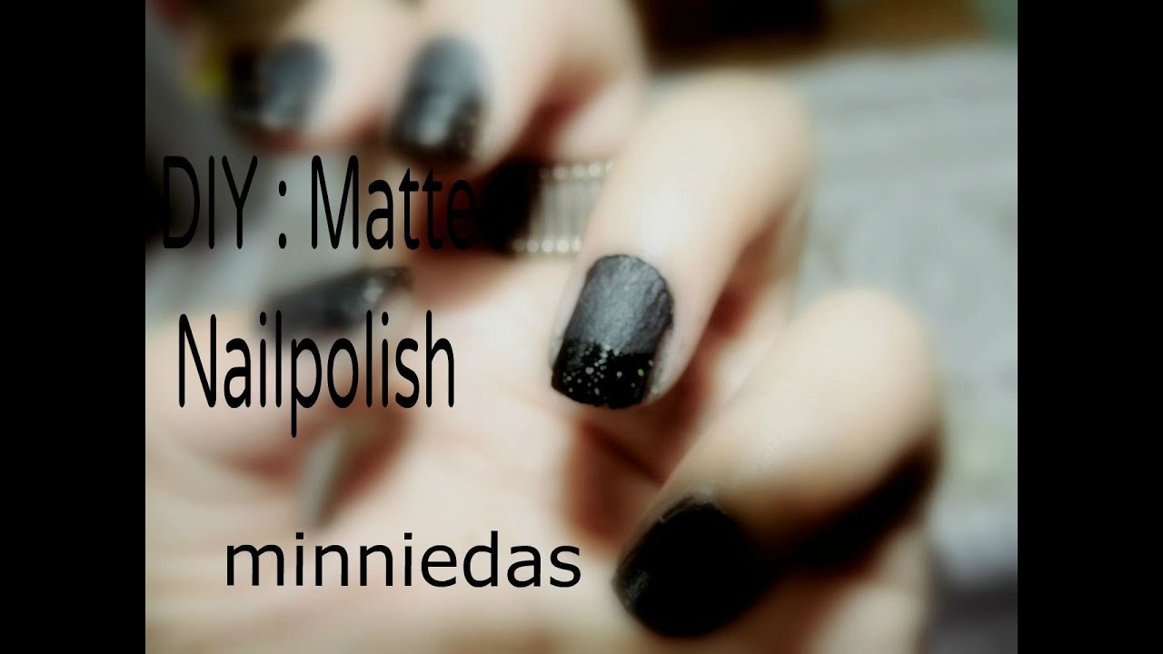 DIY : Matte Nailpolish / Home Made / Using Talcum Powder - YouTube