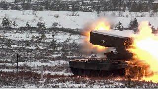 Стрельбы из ТОС 1А Солнцепек в Ленинградской области