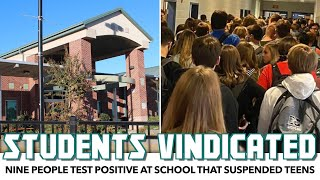 Nine People Test Positive At School That Suspended Teens For Exposing Unsafe Conditions