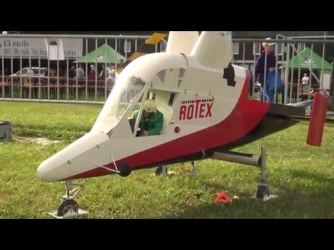 Huge Rotex Kaman K 1200 Turbine Special Rc Helicopter With