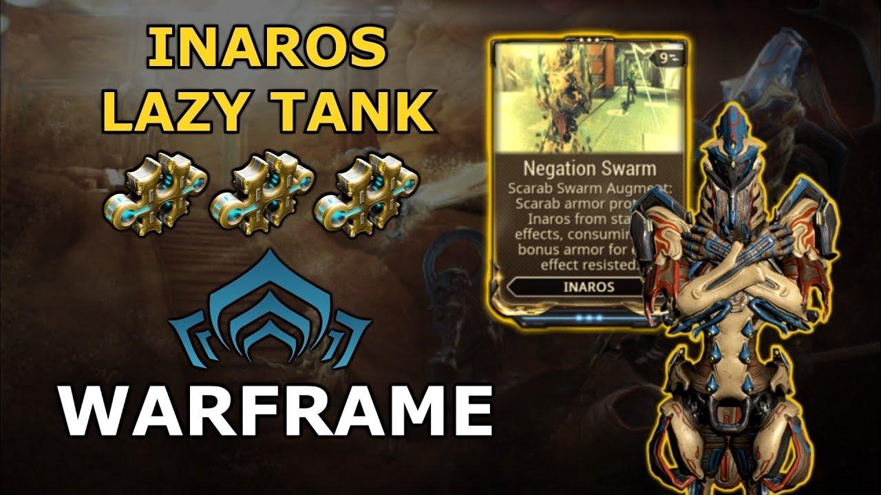 Warframe Builds Inaros Lazy Tank Build 3 Forma Youtube