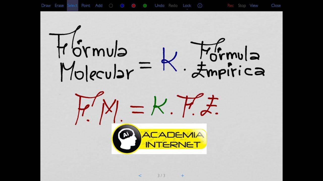 Como Calcular La F U00f3rmula Molecular A Partir De La F U00f3rmula