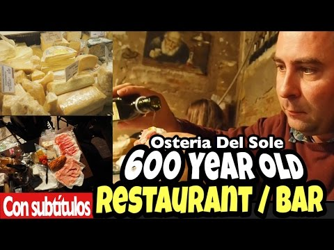 600 year old Italian restaurant - Osteria del sole and the food market!
