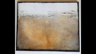 How to Painting Tutorial - Easy Abtract Neutral Landscape Art - Techniques