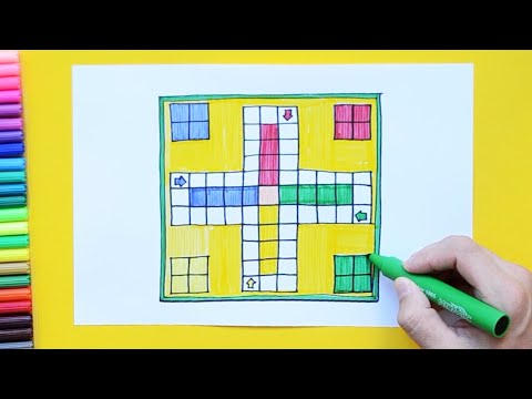 How to draw Ludo Game Board