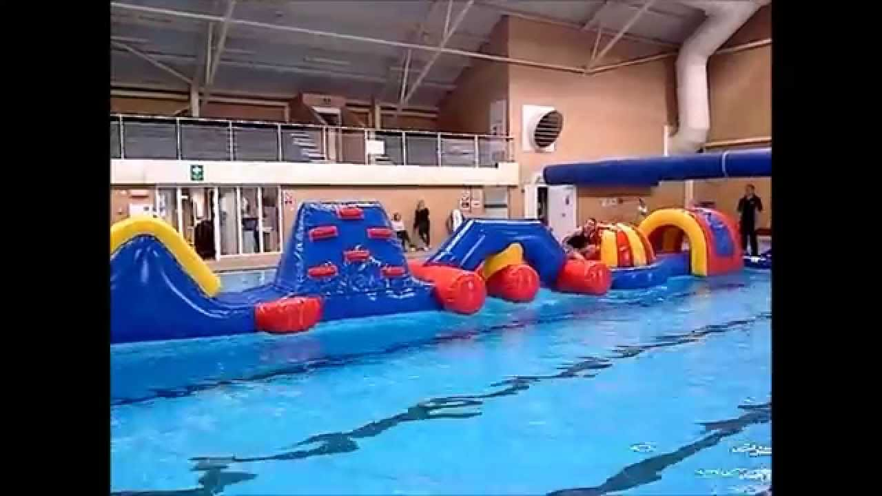 Airquee 39 S Wobstacle Inflatable Aqua Run Aq2855 Youtube