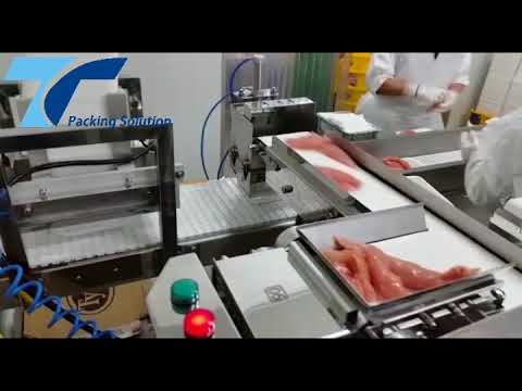 Meat 12 Head Belt Weigher Running