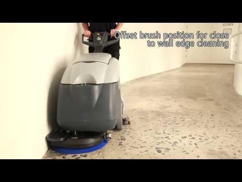 Nilfisk SC400 Scrubber Dryer demo video