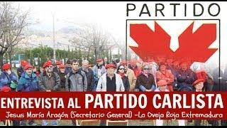 Entrevista a Jesús María Aragón (SG del Partido Carlista)