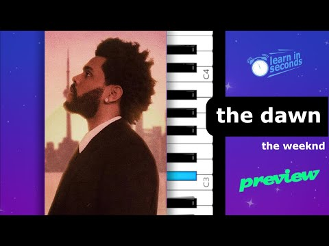 The Weeknd – The Dawn Is Coming (teaser) | Piano Tutorial
