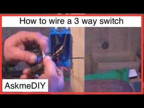 How to wire a 3 way switch Youtube How To Wire A Switch Light on