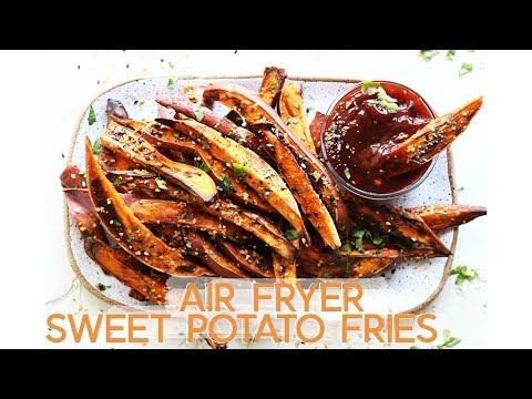 Air Fryer Everything Bagel Sweet Potato Fries || gluten free + paleo