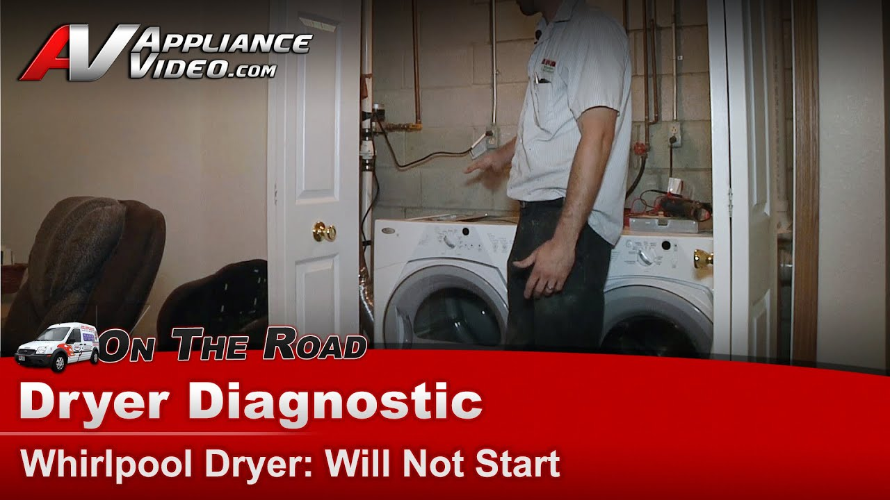 Whirlpool Maytag Roper Dryer Diagnostic Will Not Start Schematic Wed8300sw0
