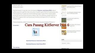Terbaru, Cara Mudah Pasang KitServer Di Game PES 6