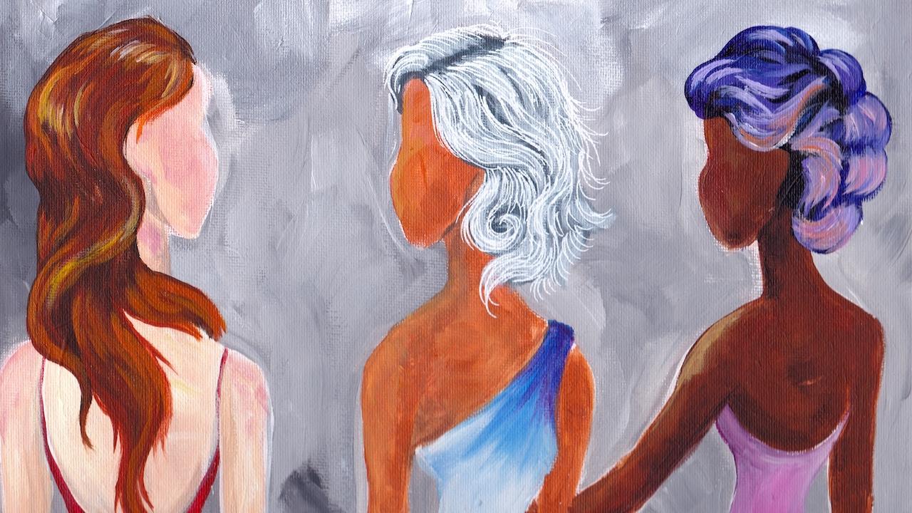 paint hair in acrylic