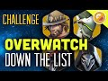 "Overwatch Challenge ""Down the list!"" - Gameplay Funny Moments"