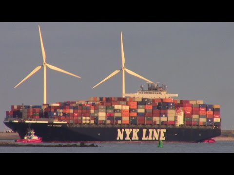 Container Ship NYK OCEANUS inbound into Port of Rotterdam, the Netherlands (June 22, 2015)