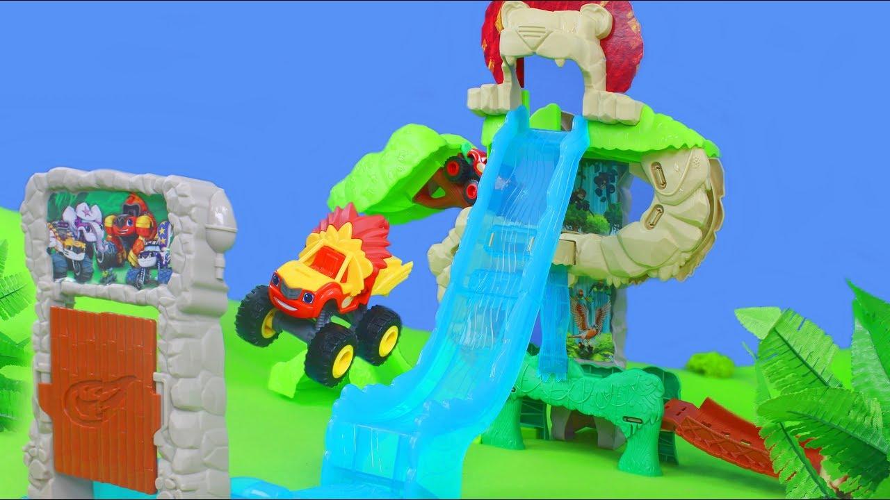 Blaze und die monster maschinen unboxing spielzeugautos for Blaze und die monster maschinen