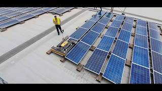 SolarCleano robot cleaning east-west installations in Australia