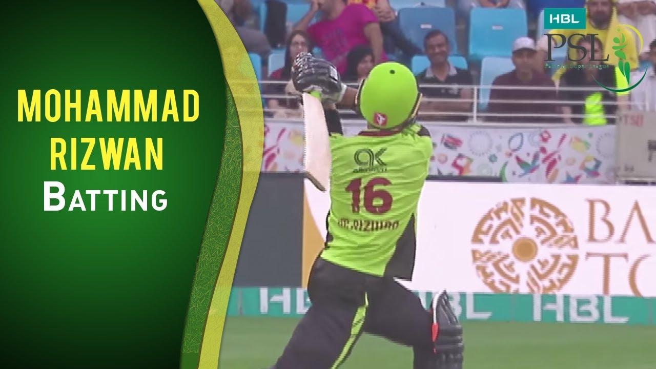 PSL 2017 Match 18: Karachi Kings vs Lahore Qalandars - Mohammad Rizwan Batting