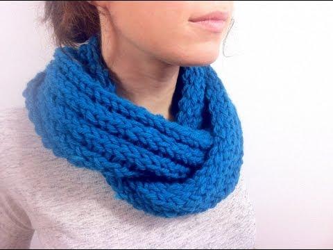 Infinity Scarf Loom Knitting Pattern For Beginners : Como hacer un cuello o bufanda infinita con telar ...
