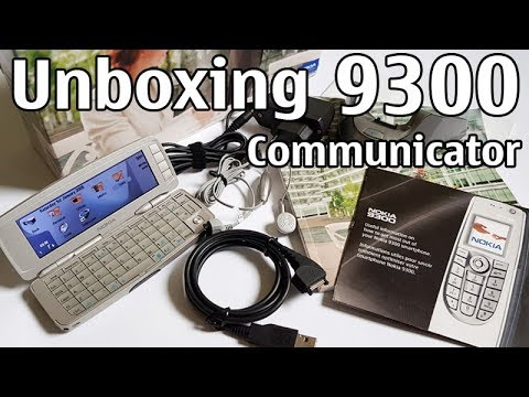 Nokia 9300 Communicator Unboxing 4K with all original accessories RAE-6  review