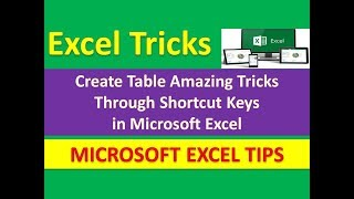 Create Table Amazing Tricks Through Shortcut Keys in Microsoft Excel [Urdu / Hindi]