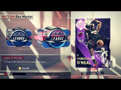 NBA 2K18 MyTEAM - THE PACKS ACTUALLY AREN'T TRASH! SHAQ/WADE GOLD LEGEND EDITION DUO WORTH IT!