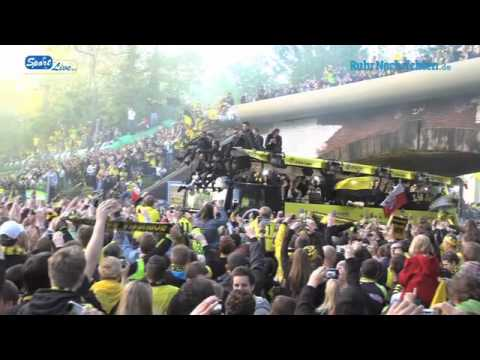 Meistercorso in Dortmund nach dem gewonnen Double