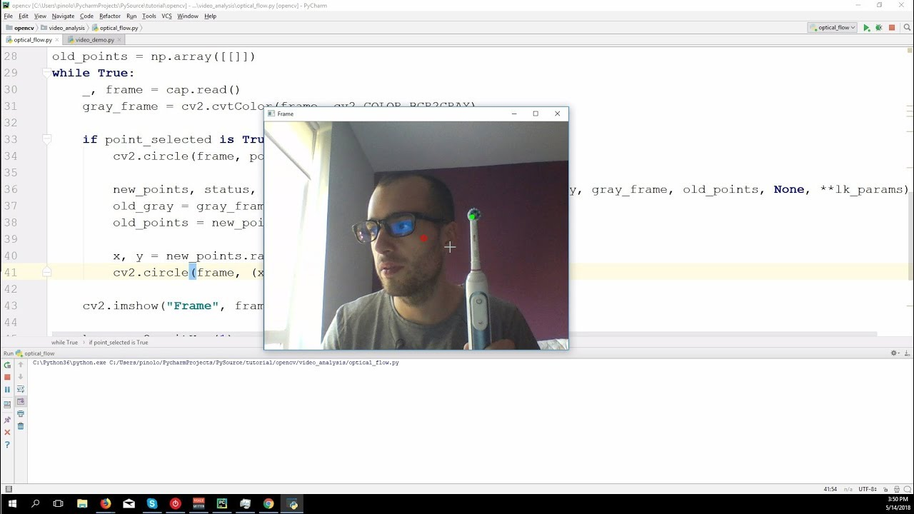 Optical Flow with Lucas-Kanade method - OpenCV 3 4 with python 3 Tutorial 31