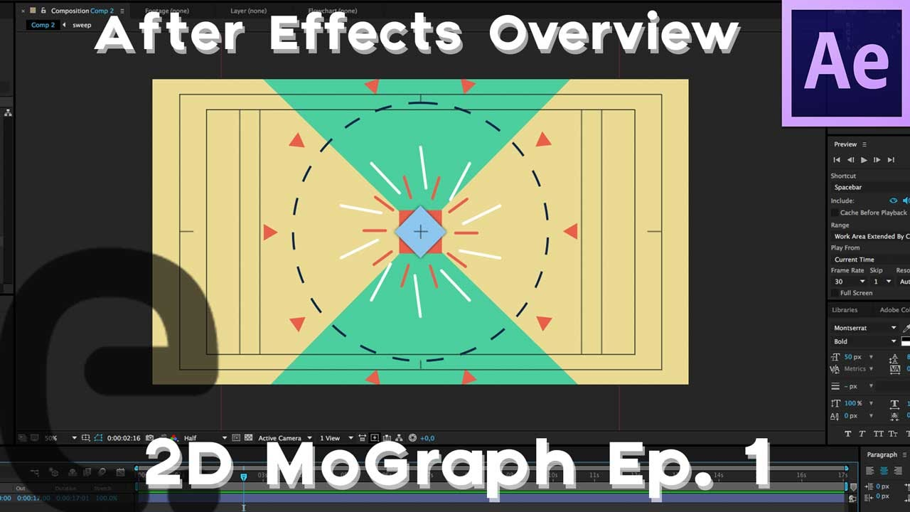 After Effects: Basic 2D Motion Graphics Tutorial | Episode 1 (Overview)